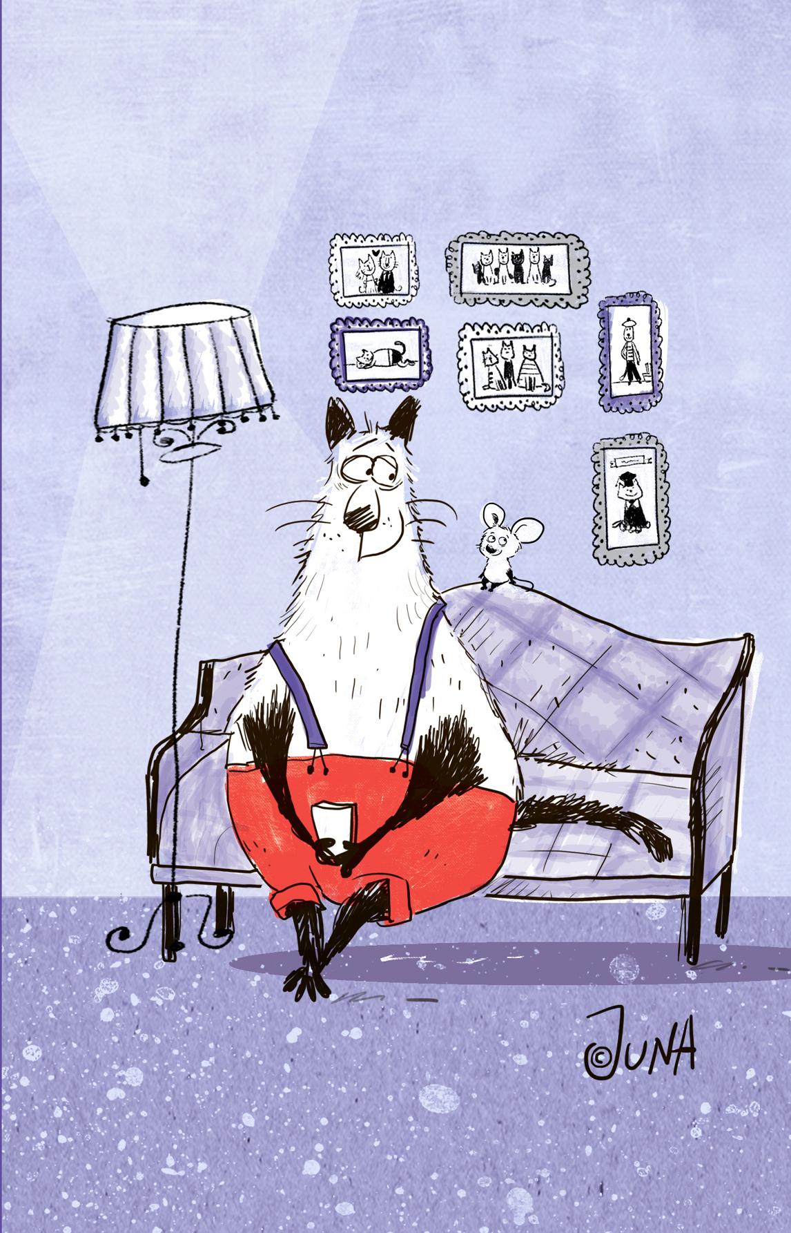 Блокнот, поднимающий настроение (на диване)